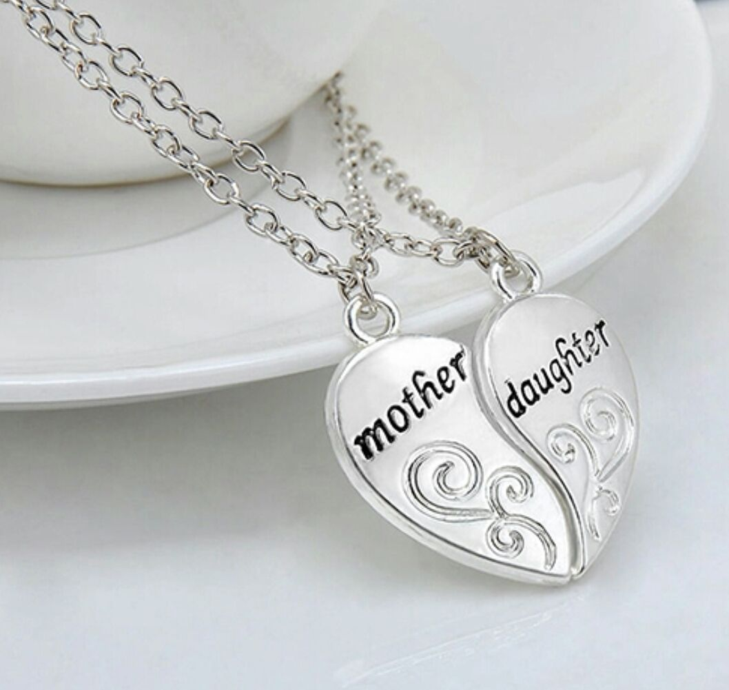 Of mother daughter split heart pendants pair of mother daughter split heart pendants aloadofball Choice Image
